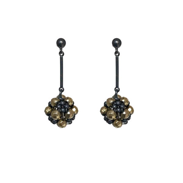 Coated hematite beaded ball stud drop earrings web.jpg