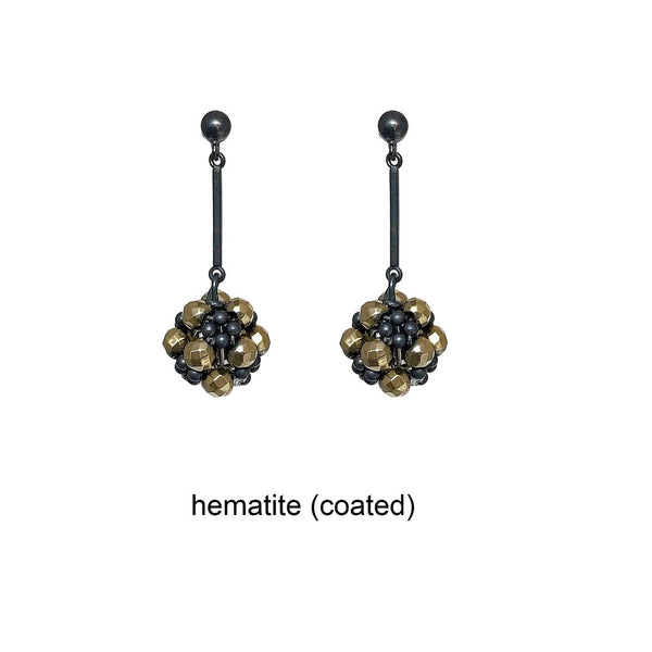Coated hematite beaded ball stud drop earrings web text.jpg