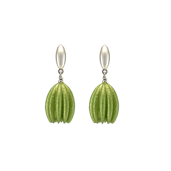 Lime Hula Earrings