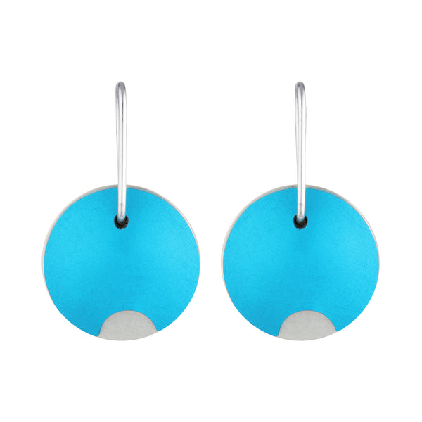 Turquoise Anodised aluminium earrings