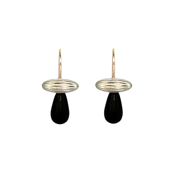Jennifer Fahey Agate and sterling silver earrings