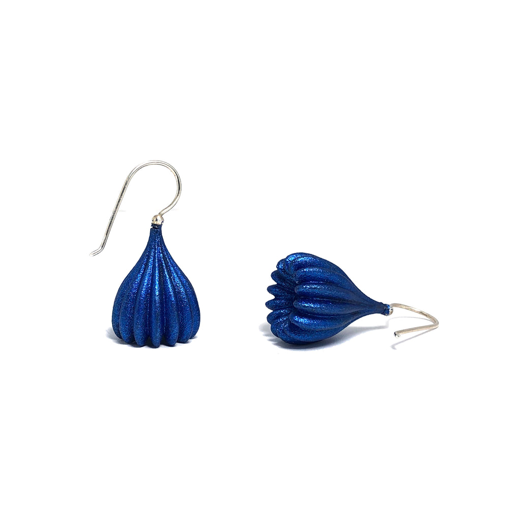 Cobalt Medium Pod Earrings