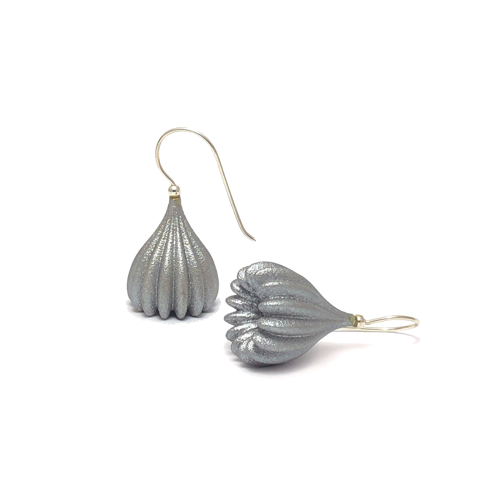 Silver Medium Pod Earrings