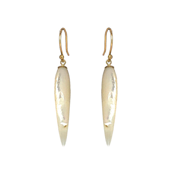 18ct and mother of pearl spike earrings