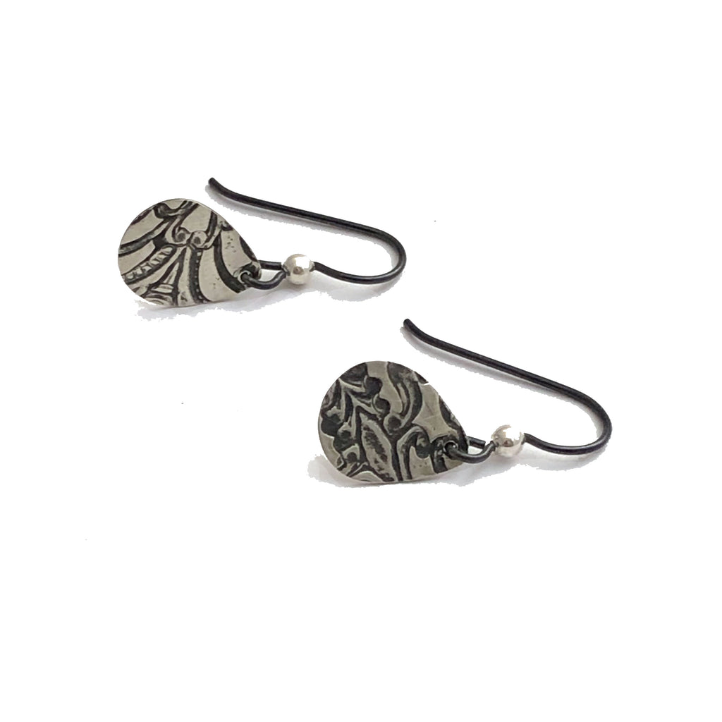 Sample - sterling silver and niobium hook earrings