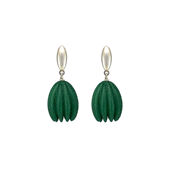 Emerald Hula Earrings