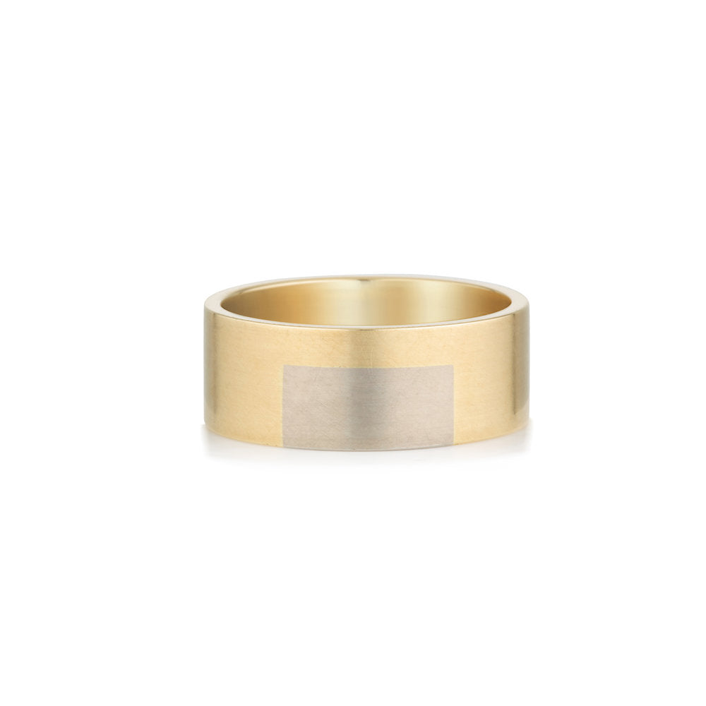 Married metal rectangular insert ring.jpg