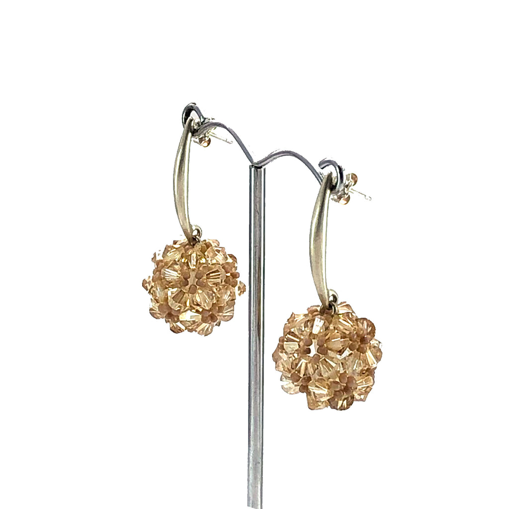 Swarovski crystal and sterling silver drop earrings