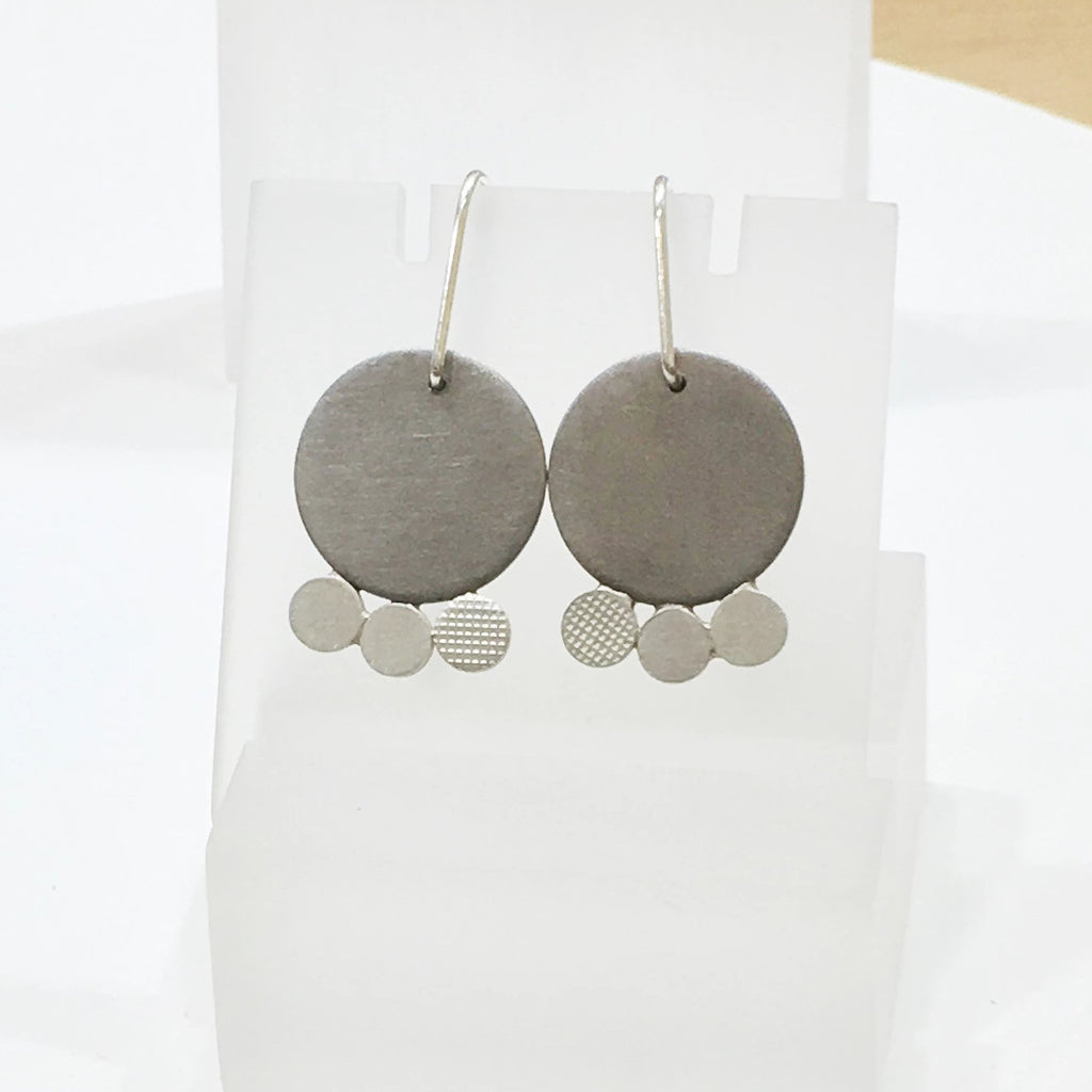1 Off - 'Re play' Circle Drop Earrings