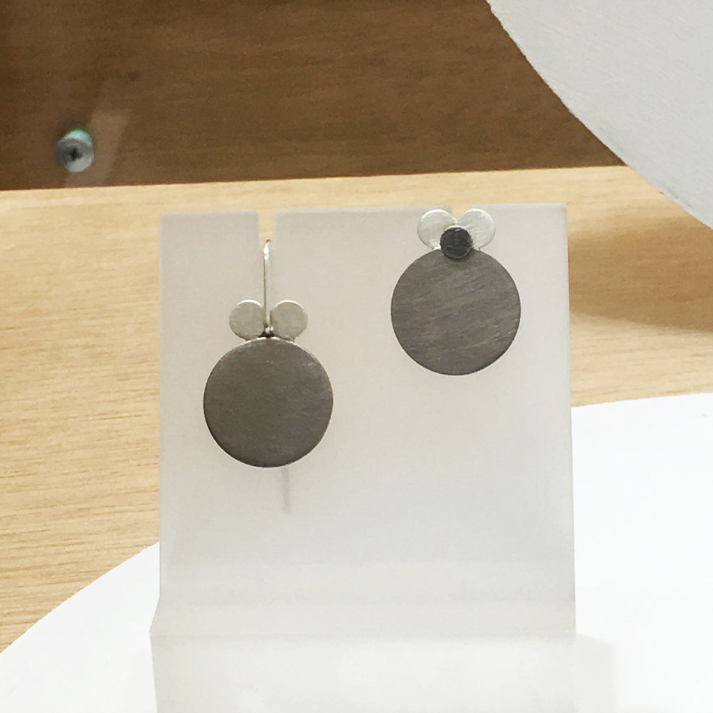 'Re play' Circle Stud and Drop Earrings