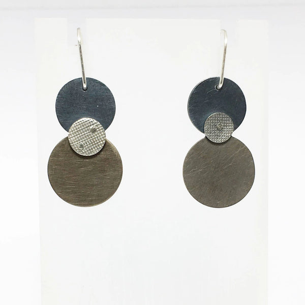 'Re play' Circle Drop Earrings