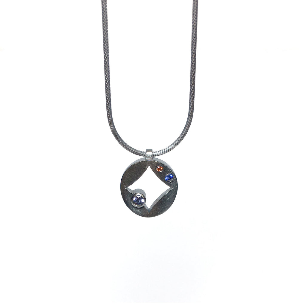 oxidised silver necklace