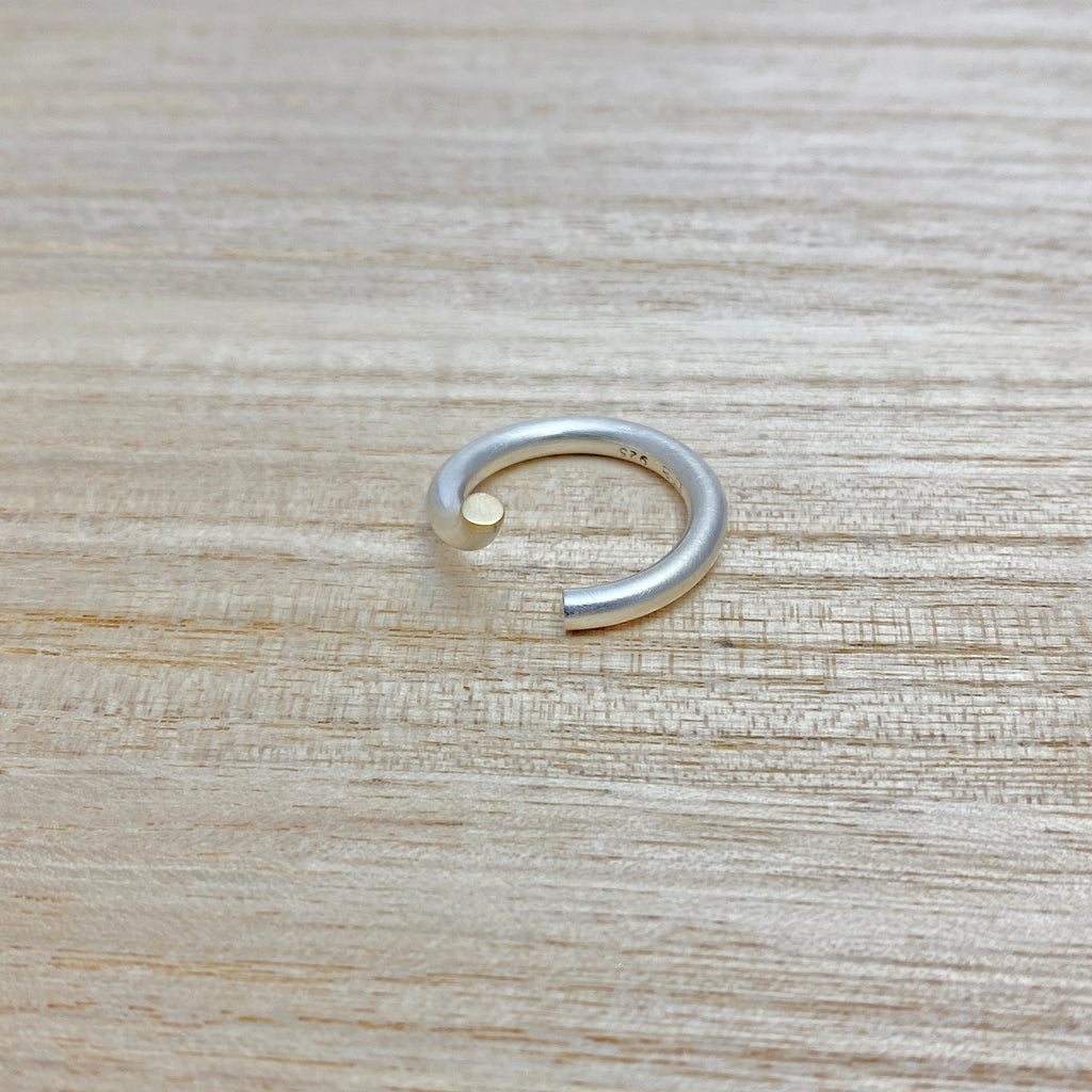 Discontinued - Sterling Silver Ring & Yellow Gold Ring