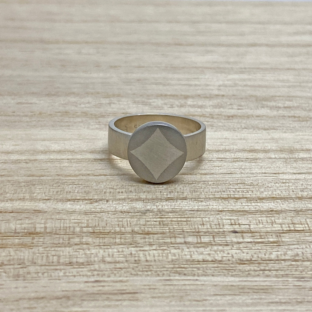 Sample - Sterling Silver and Platinum 'Diamond' Ring