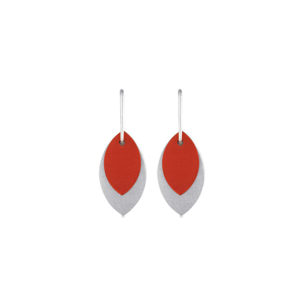 small red aluminium leaf earrings.jpg