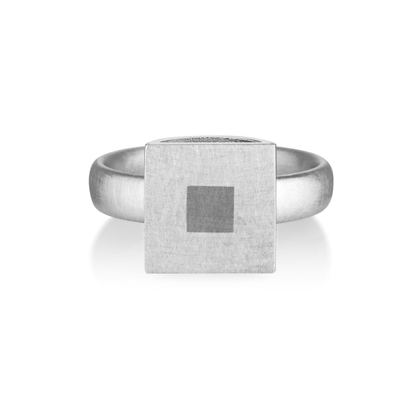 sterling silver contemporary jewellery hollow formed ring