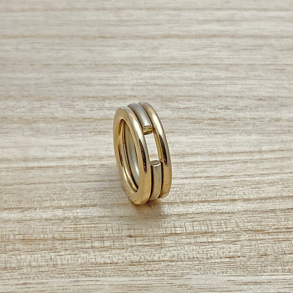 Last Set Left  - Set 3 Yellow & White Gold Stacking Rings