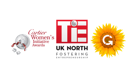 TiE, Cartier Women's Initiative Awards and Grant Thornton Logo