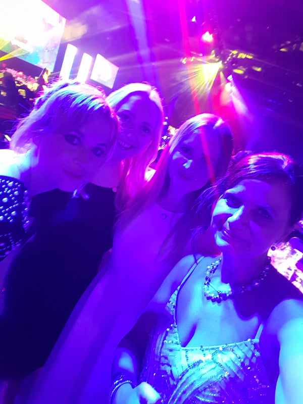 Selfie of Sarah O'Mahoney, Rachel, Laura and Natalie Bain at the Northern Power Women Awards.