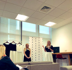 Laura and Rachel speaking at the Forward Ladies Event.