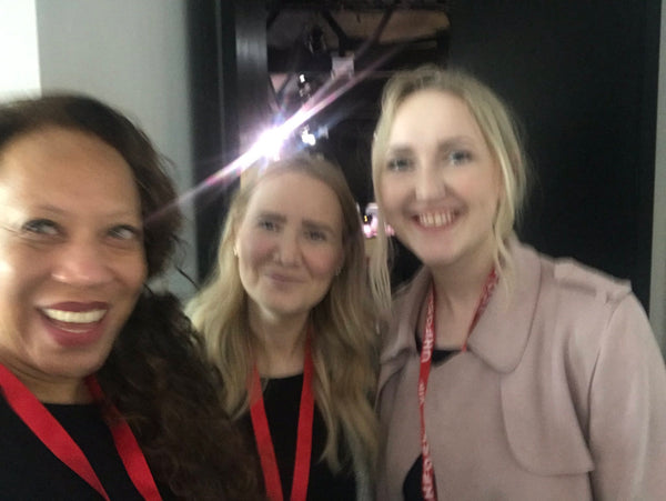 Selfie of Jenny Garret MBE, Laura and Rachel.
