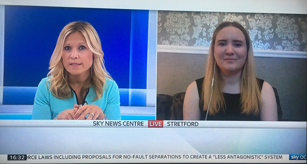 Sam Washington and Laura speaking on Sky News about Organ Donation