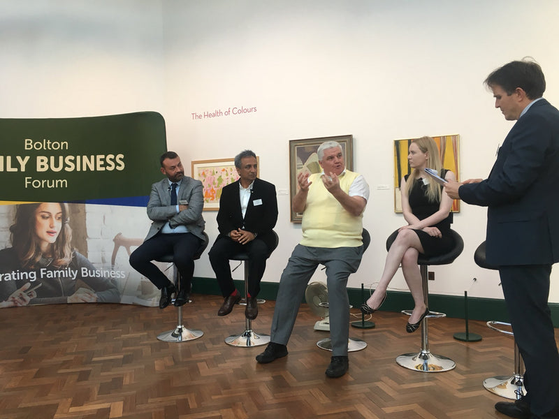 Laura on the panel for the Bolton Family Business Forum