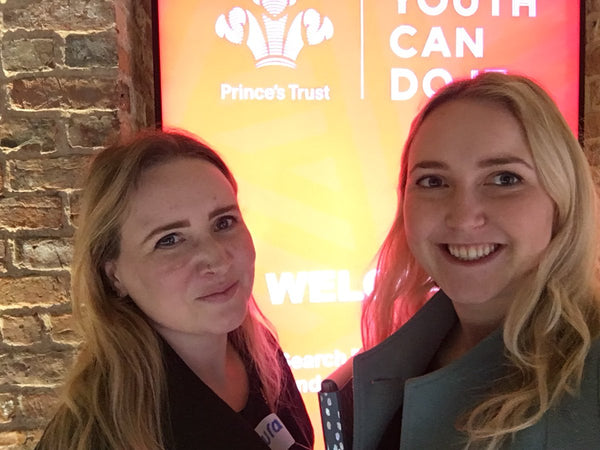 Selfie of Laura and Rachel at the Manchester Prince's Trust Centre