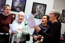 People attending the Pankhurst City Centenary Exhibition.