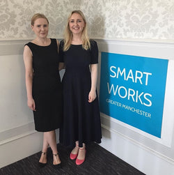 Laura and Rachel at the Smart Works Greater Manchester office