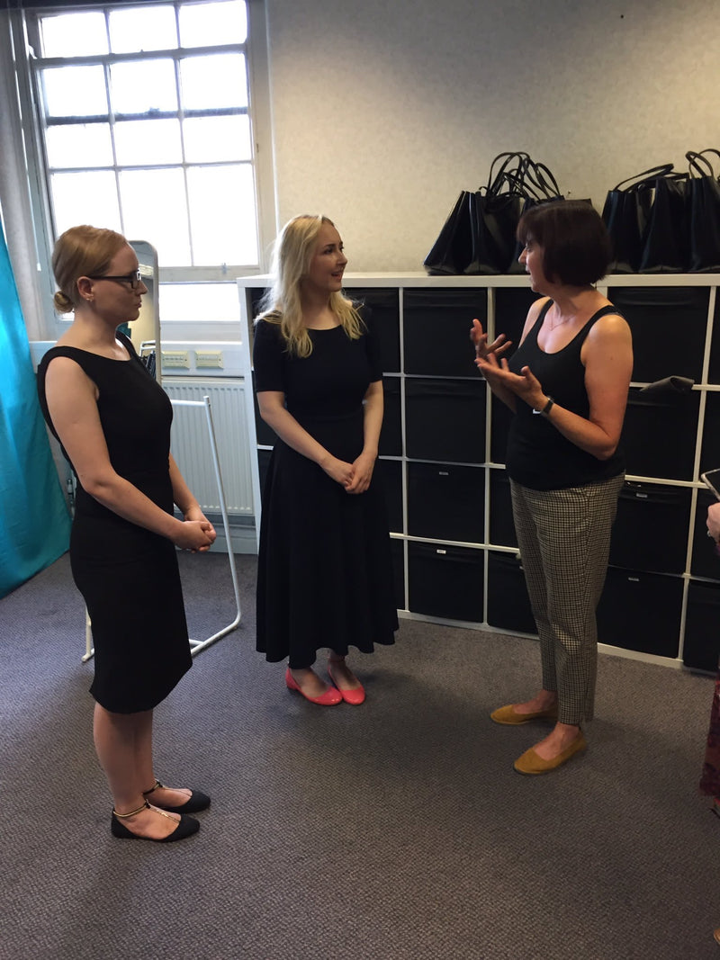 Laura and Rachel and Anne (Manager) at the Smart Works Greater Manchester office