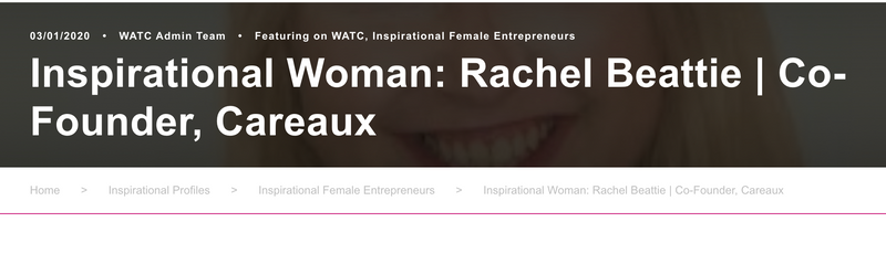 Blog title page for We Are The City Inspirational Women blog