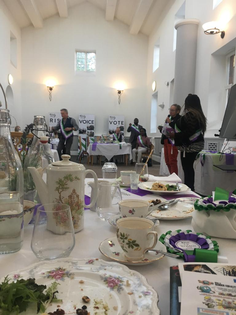Attendees of the Pankhurst Centre Afternoon Tea Fundraiser