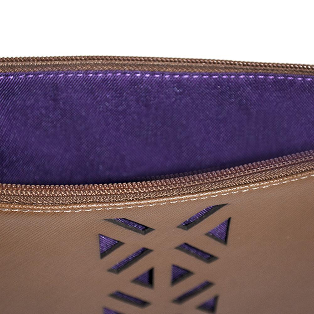 Leather PractiPouch Large - Sienna - Amethyst Shoes