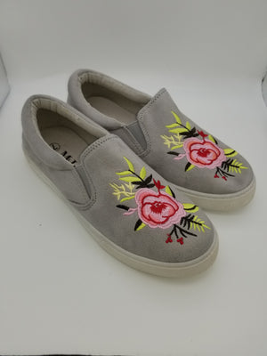 Grace Floral Sneakers - Amethyst Shoes