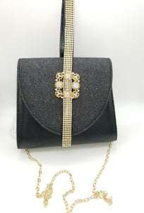 Bella Rhinestone Mini Satchel - Amethyst Shoes