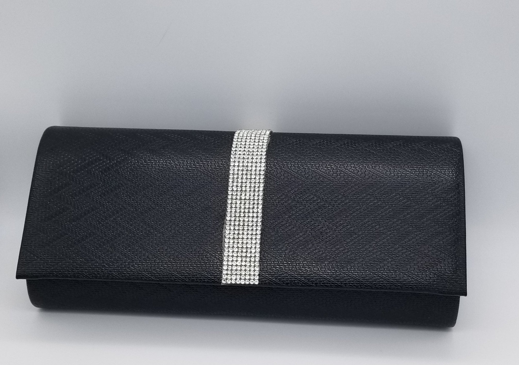Tuxedo Black Evening Bag - Amethyst Shoes
