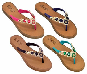 Christy Jewelled Flip Flops