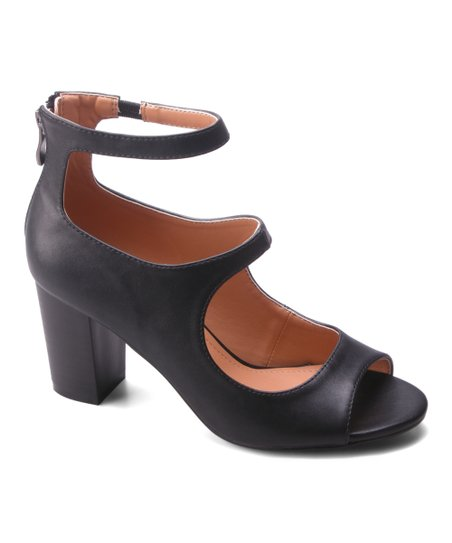 Vivian Betani Black Block Heels - Amethyst Shoes