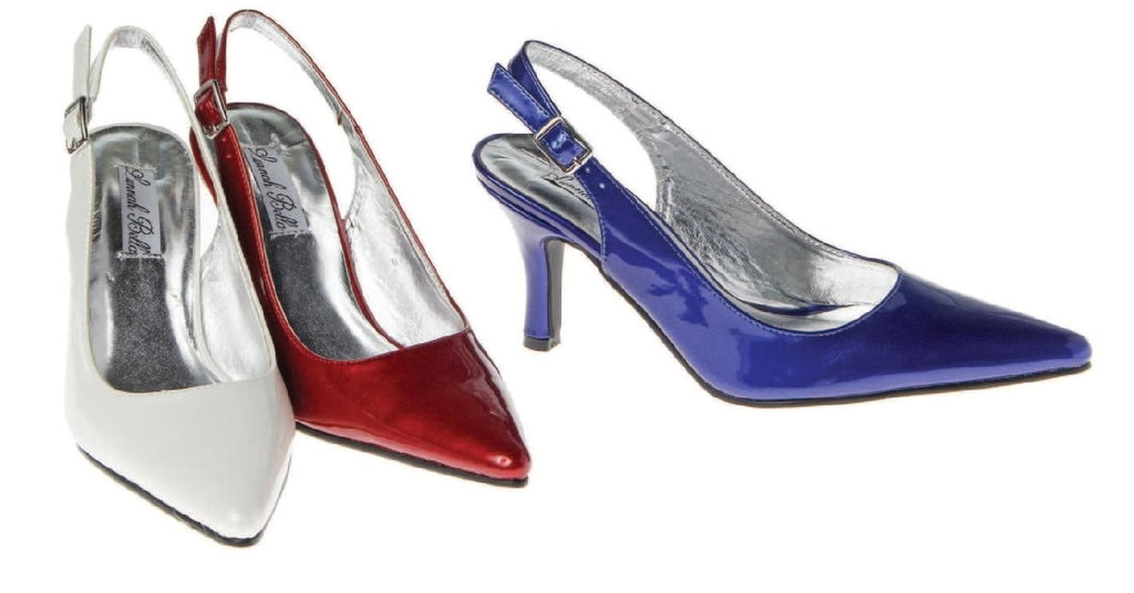 Monica Slingback Pumps - Amethyst Shoes