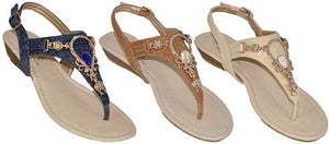 Niki Jewelled Sandals - Amethyst Shoes