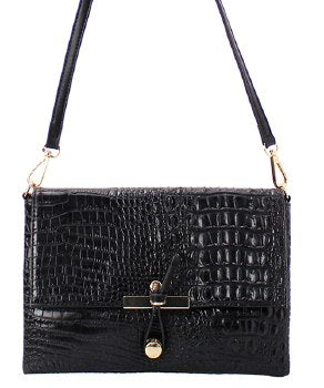 Penelope Croc Crossbody Bag - Amethyst Shoes