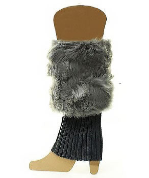 Fur Boot Cuffs - Amethyst Shoes