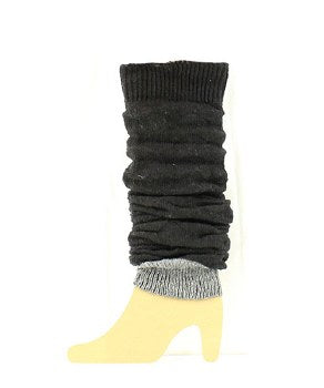 Black Slouch Boot Cuffs - Amethyst Shoes