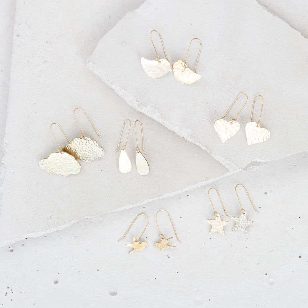 Product Feature of the Week: The Hammered Brass Earring Collection