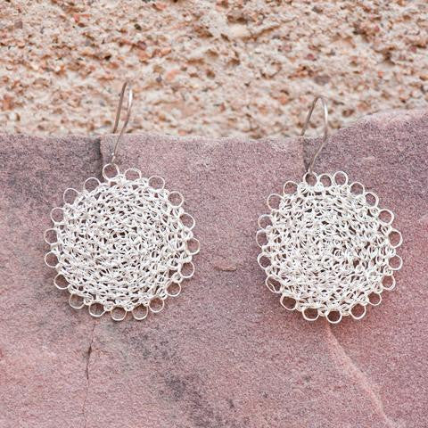 Product Feature: Crocheted Silver Jewelry