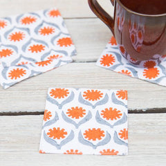 Block-Printed Coasters