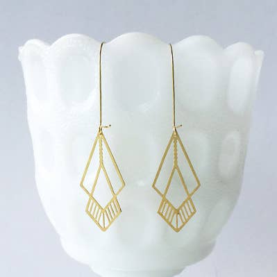Overlapping Octahedron Earrings