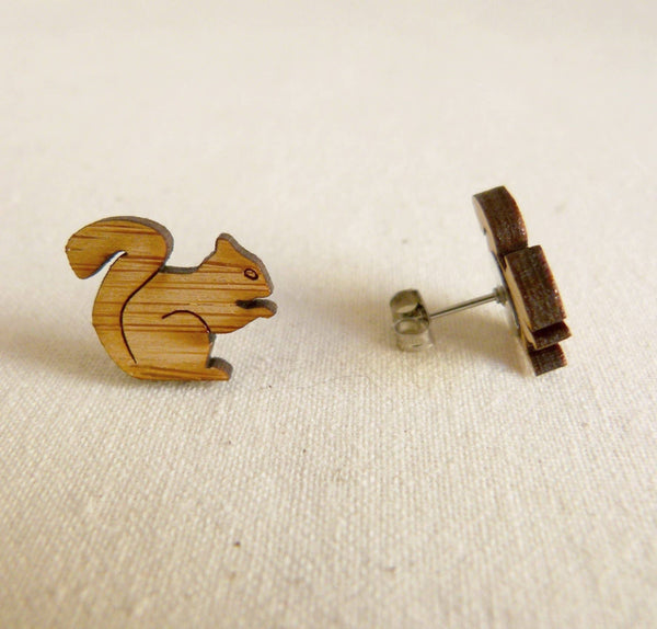 Squirrel Bamboo Studs