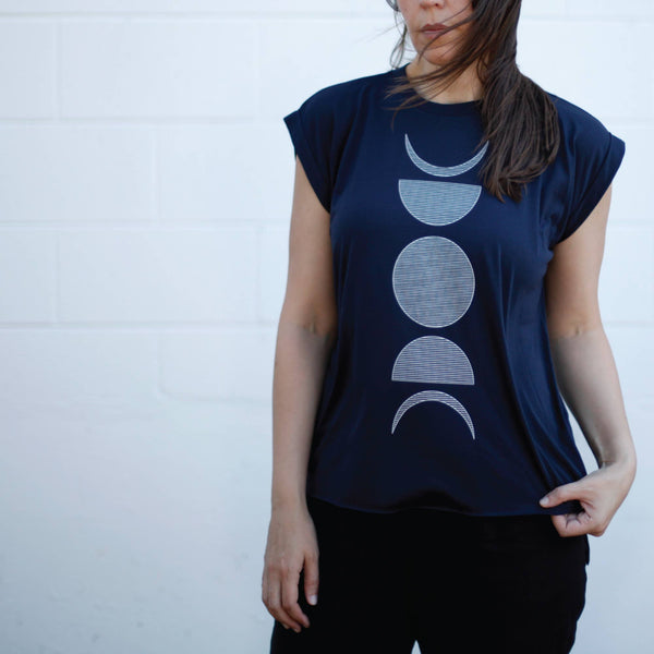 Moon Phase Women's Muscle Tee